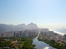 Flyg- sikt av Rio De Janeiro Arkivbilder