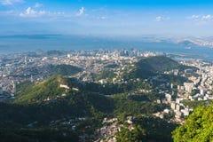 Flyg- sikt av Rio de Janeiro fotografering för bildbyråer