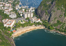 Flyg- sikt av Rio De Janeiro, Brasilien Arkivbilder