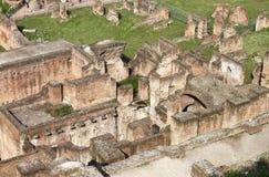 Flyg- sikt av Roman Forum arkivfoto