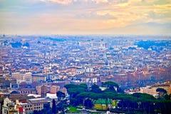 Flyg- sikt av Rome, Italien tak Royaltyfria Foton
