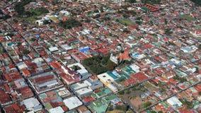 Flyg- sikt av San Jose förort, Costa Rica royaltyfri foto