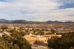 Flyg- sikt av Santa Fe NM Royaltyfri Bild