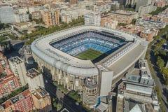 Flyg- sikt av Santiago Bernabeu stadion i Madrid royaltyfri bild
