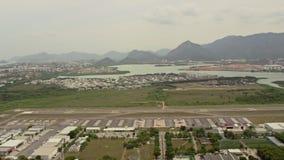 Flyg- sikt av Santos Dumont Airport lager videofilmer