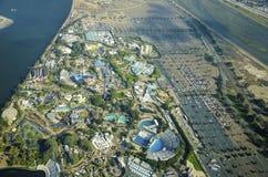 Flyg- sikt av Seaworld, San Diego Arkivfoton