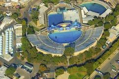 Flyg- sikt av Seaworld, San Diego Fotografering för Bildbyråer