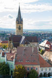 Flyg- sikt av Sibiu Royaltyfria Bilder