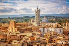 Flyg- sikt av Siena Fotografering för Bildbyråer