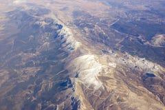 Flyg- sikt av Sierra Nevada i Spanien fotografering för bildbyråer