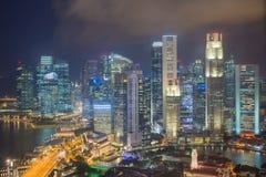 Flyg- sikt av Singapore royaltyfria foton