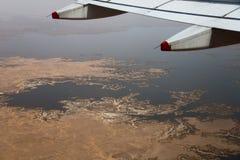 Flyg- sikt av sjön Nasser, Egypten Royaltyfri Foto