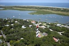 Flyg- sikt av St Augustine Lighthouse fotografering för bildbyråer