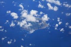 Flyg- sikt av St Lucia i det karibiska havet royaltyfri fotografi