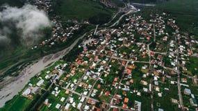 Flyg- sikt av staden fotografering för bildbyråer