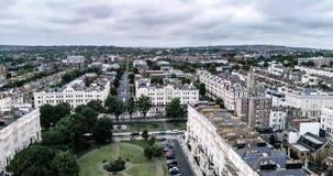 Flyg- sikt av staden av Brighton och Hove, England Arkivfoto