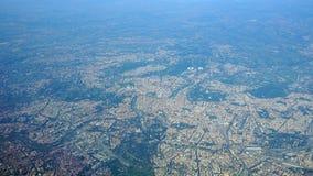 Flyg- sikt av staden av Rome Italien Fotografering för Bildbyråer