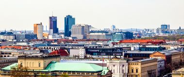 Flyg- sikt av staden av Berlin, Tyskland royaltyfri bild