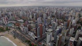 Flyg- sikt av staden av Fortaleza, Ceara tillstånd, Brasilien arkivfilmer