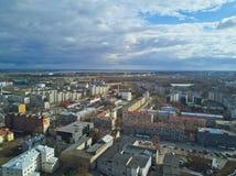 Flyg- sikt av staden Tallinn Estland Arkivfoto