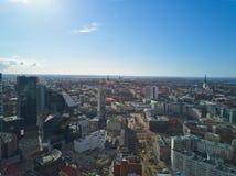 Flyg- sikt av staden Tallinn Estland Arkivbild