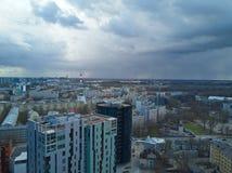 Flyg- sikt av staden Tallinn Estland Royaltyfri Bild