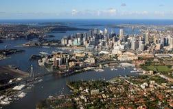 Flyg- sikt av Sydney, Australien Arkivbilder