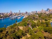 Flyg- sikt av Sydney Harbour Royaltyfri Bild