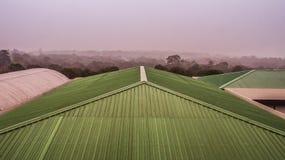 Flyg- sikt av taköverkanten Arkivfoto