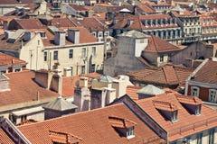 Flyg- sikt av tak av Lissabon Royaltyfri Fotografi