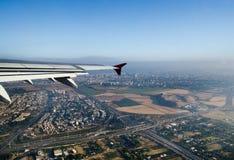 Flyg- sikt av Tel Aviv israel arkivbild