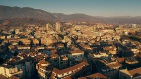 Flyg- sikt av Terni cityscape i aftonen Umbria Italien arkivfilmer