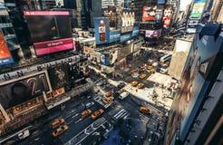 Flyg- sikt av Times Square, New York Arkivfoton