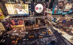 Flyg- sikt av Times Square, New York Royaltyfri Bild