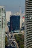 Flyg- sikt av Tokyo, Japan Royaltyfria Bilder