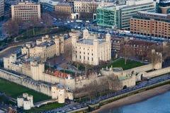 Flyg- sikt av tornet av London Royaltyfri Fotografi