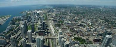 Flyg- sikt av Toronto Kanada Arkivfoto