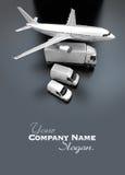 Flyg- sikt av trans.flotta stock illustrationer