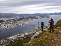 Flyg- sikt av Tromso Royaltyfri Fotografi