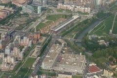 Flyg- sikt av Turin Arkivbilder