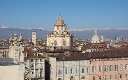 Flyg- sikt av Turin royaltyfri foto
