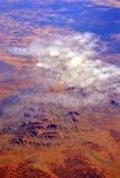 Flyg- sikt av Uluru (Ayres Rock) Australien Royaltyfri Fotografi