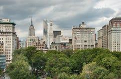 Flyg- sikt av Union Square på New York City USA arkivbild
