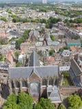 Flyg- sikt av Utrecht, Nederländerna Royaltyfria Bilder
