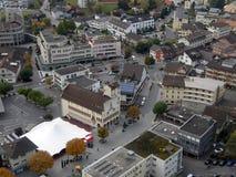 Flyg- sikt av Vaduz Royaltyfri Foto