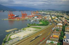 Flyg- sikt av Vancouver Royaltyfria Bilder