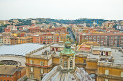 Flyg- sikt av Vatican Arkivfoto