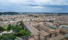 Flyg- sikt av Vatican City royaltyfri fotografi