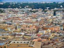 Flyg- sikt av Vatican City royaltyfri foto