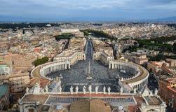 Flyg- sikt av Vatican City arkivfoto